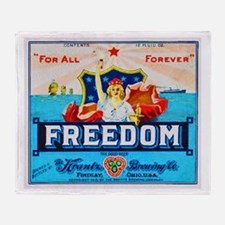 Ohio Beer Label 7 Throw Blanket