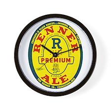 Ohio Beer Label 8 Wall Clock