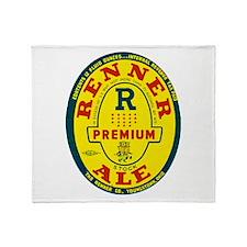 Ohio Beer Label 8 Throw Blanket