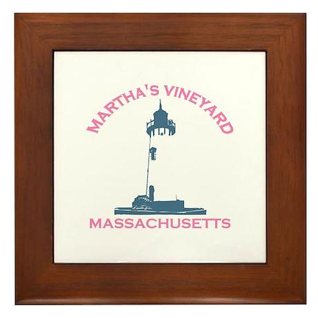 Martha's Vineyard MA - Lighthouse Design. Framed T