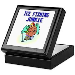 Ice Fishing Junkie Keepsake Box