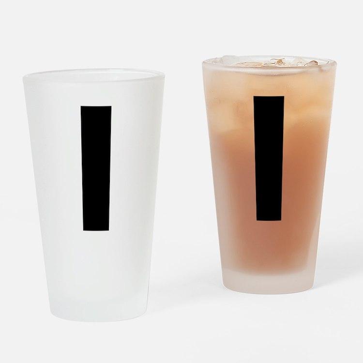 Letter I Drinking Glass