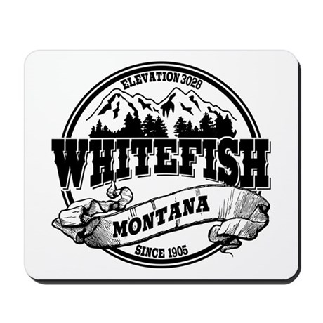 Whitefish Old Circle Mousepad