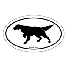 Pointing Setter Oval Decal