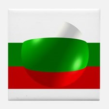 Bulgarian Flag With Bubble Tile Coaster