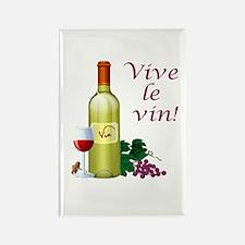 Vive le Vin Rectangle Magnet