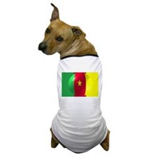 Cameroon Flag With Bubble Dog T-Shirt