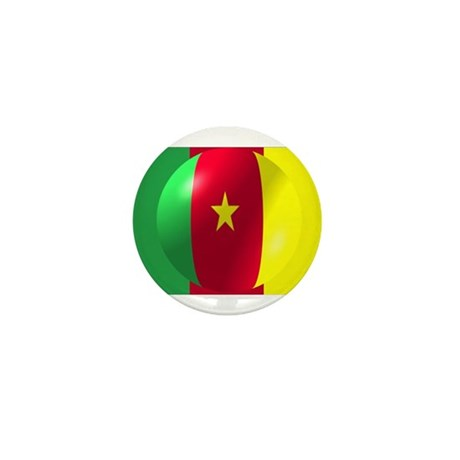 Cameroon Flag With Bubble Mini Button (10 pack)