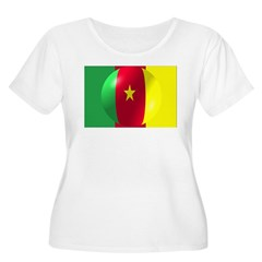 Cameroon Flag With Bubble T-Shirt