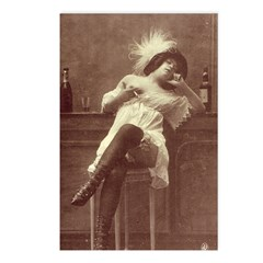 Belle Epoque Bar Girl Postcards (Package of 8)