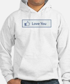 Valentines Day Love You Facebook Button Hoodie