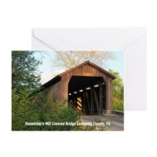 Hunsecker's Mill Covered Brid Greeting Card