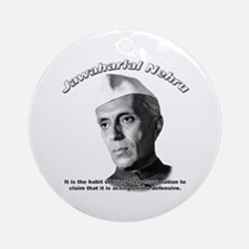 Javaharlal Nehru 01 Ornament (Round)