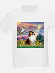 Cloud Angel Sheltie T-Shirt