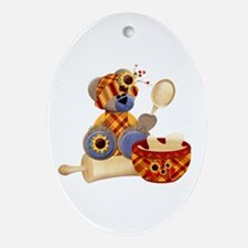 TeddyBear Chef Ornament (Oval)