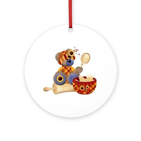 TeddyBear Chef Ornament (Round)