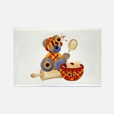 TeddyBear Chef Rectangle Magnet