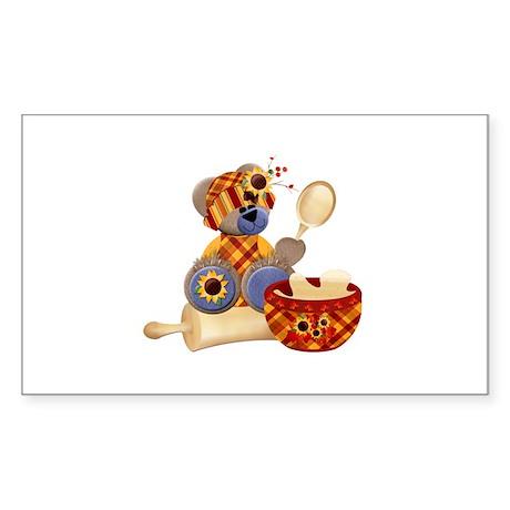 TeddyBear Chef Sticker (Rectangle)