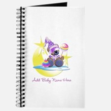 Customizable Teddy Girl Journal