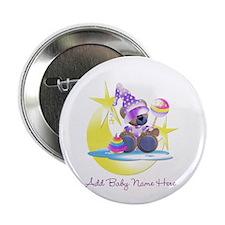 "Customizable Teddy Girl 2.25"" Button"