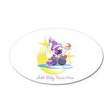 Customizable Teddy Girl 22x14 Oval Wall Peel