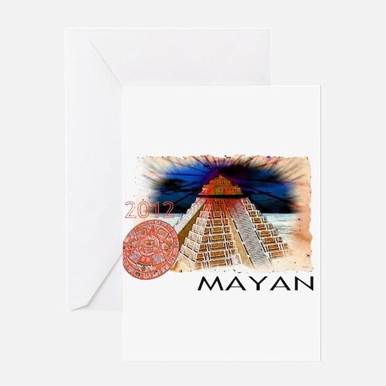 mayan calender Greeting Card