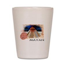 mayan calender Shot Glass