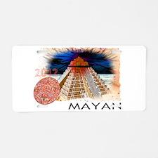 mayan calender Aluminum License Plate