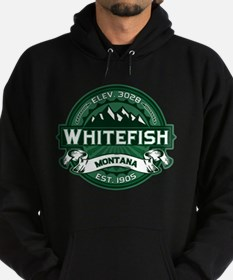 Whitefish Logo Forest Hoodie