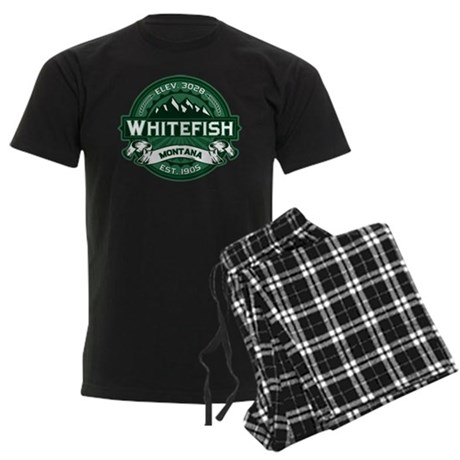 Whitefish Logo Forest Men's Dark Pajamas