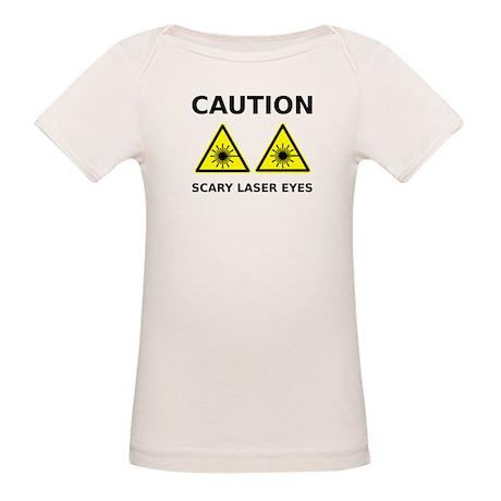 Scary Laser Eyes Organic Baby T-Shirt