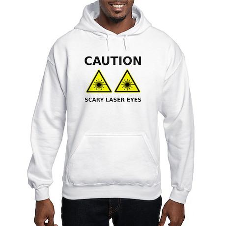 Scary Laser Eyes Hooded Sweatshirt