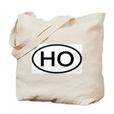 HO - Initial Oval Tote Bag
