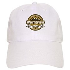 Whitefish Logo Tan Baseball Cap