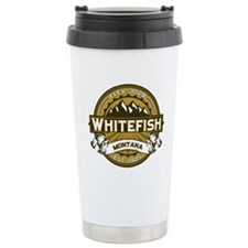 Whitefish Logo Tan Travel Mug
