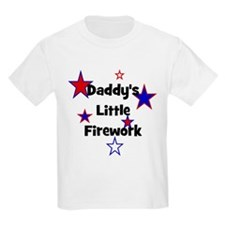 Daddy's Little Firework Kids T-Shirt