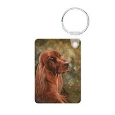 Irish Setter Aluminum Photo Keychain