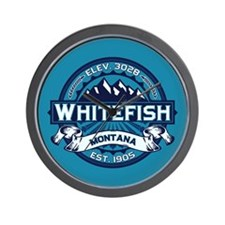 Whitefish Logo Ice Wall Clock