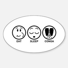 Eat Sleep Conga Decal