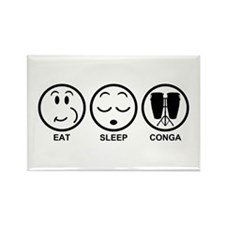 Eat Sleep Conga Rectangle Magnet