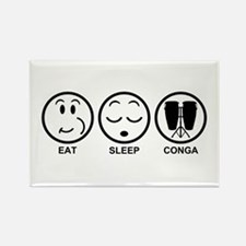 Eat Sleep Conga Rectangle Magnet