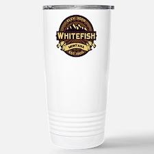 Whitefish Logo Sepia Stainless Steel Travel Mug