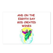 god created wine Postcards (Package of 8)