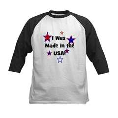 I Was Made in the USA! Kids Baseball Jersey