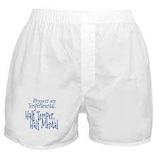 Bloggers are Temperamental Boxer Shorts
