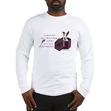 Greyhound (White & Fawn) Long Sleeve T-Shirt