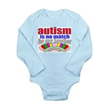 Autism no stop my brother Long Sleeve Infant Bodys