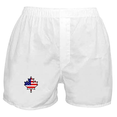 Canadian-American Half-Breed Boxer Shorts