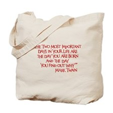 Important Days Tote Bag (on both sides)