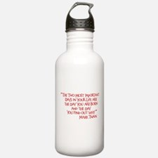 Important Days Water Bottle